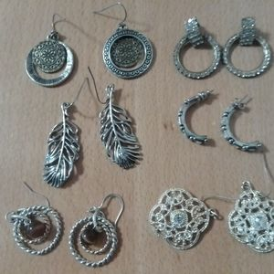 Assorted earrings for pierced ears.
